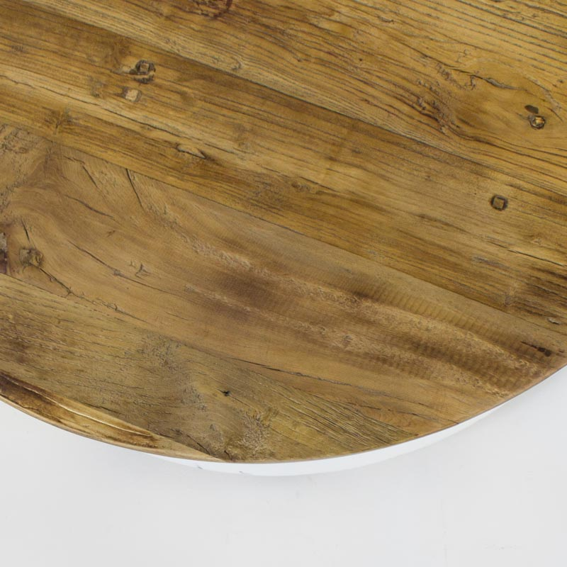 Beach small round coffee table in white