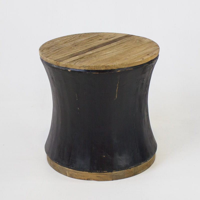 Beach small round coffee table in black