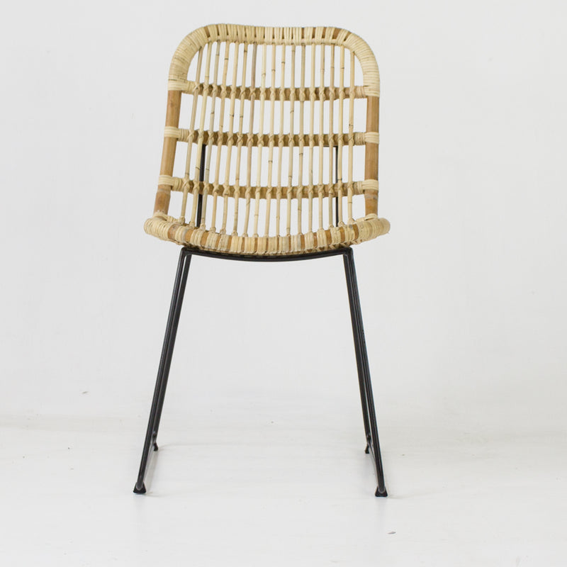 Havana dining chair in blonde cane