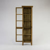 Beach cabinet narrow with 2 glass doors in bleached