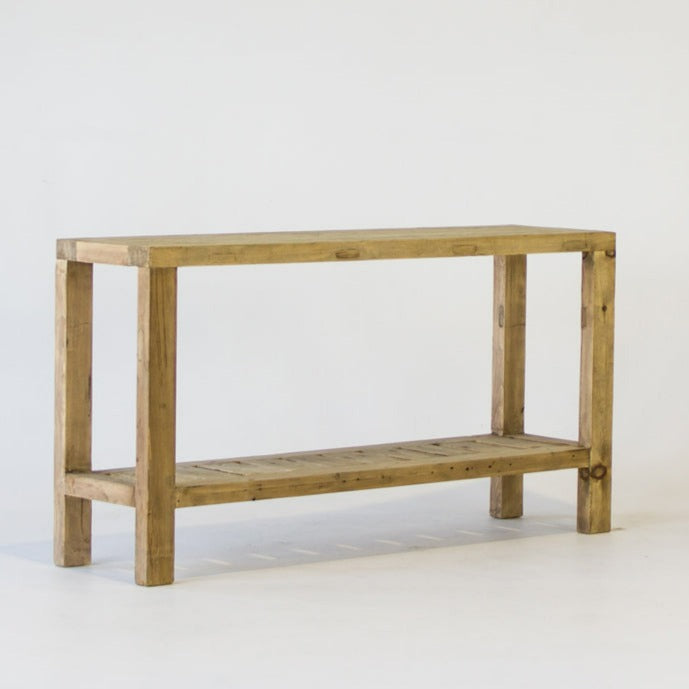 Beach console table 150cm in bleached