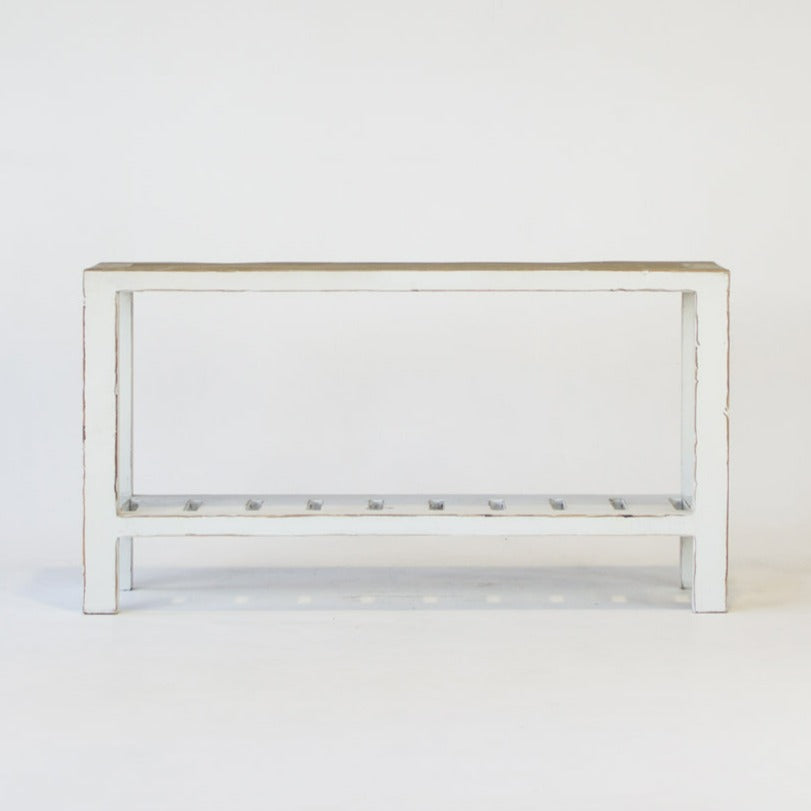 Beach console table 150cm in white