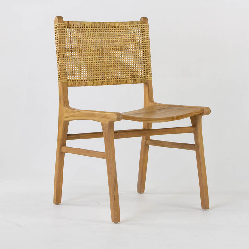 Pacific dining chair with wooden seat