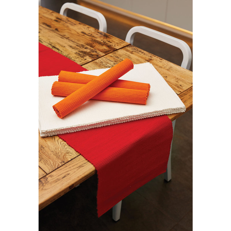 Lollipop ribbed placemat in white