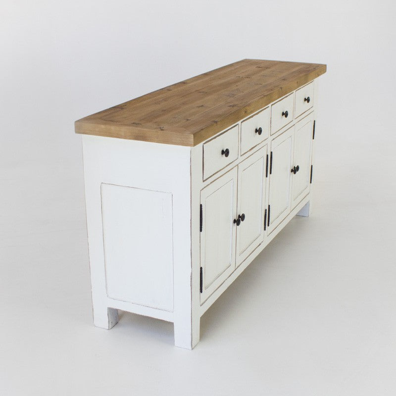 Beach buffet with 4 doors and 4 drawers in white