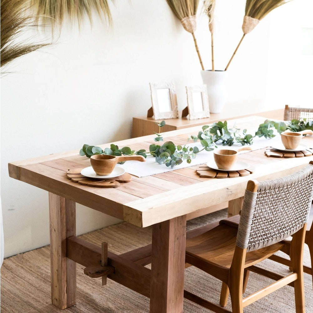 Recycled Raw Camphor wood factory dining table 2m