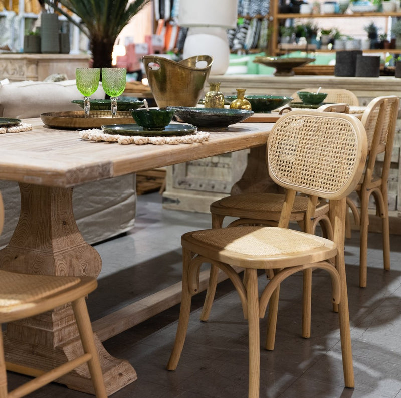 Castaway dining chair in blonde
