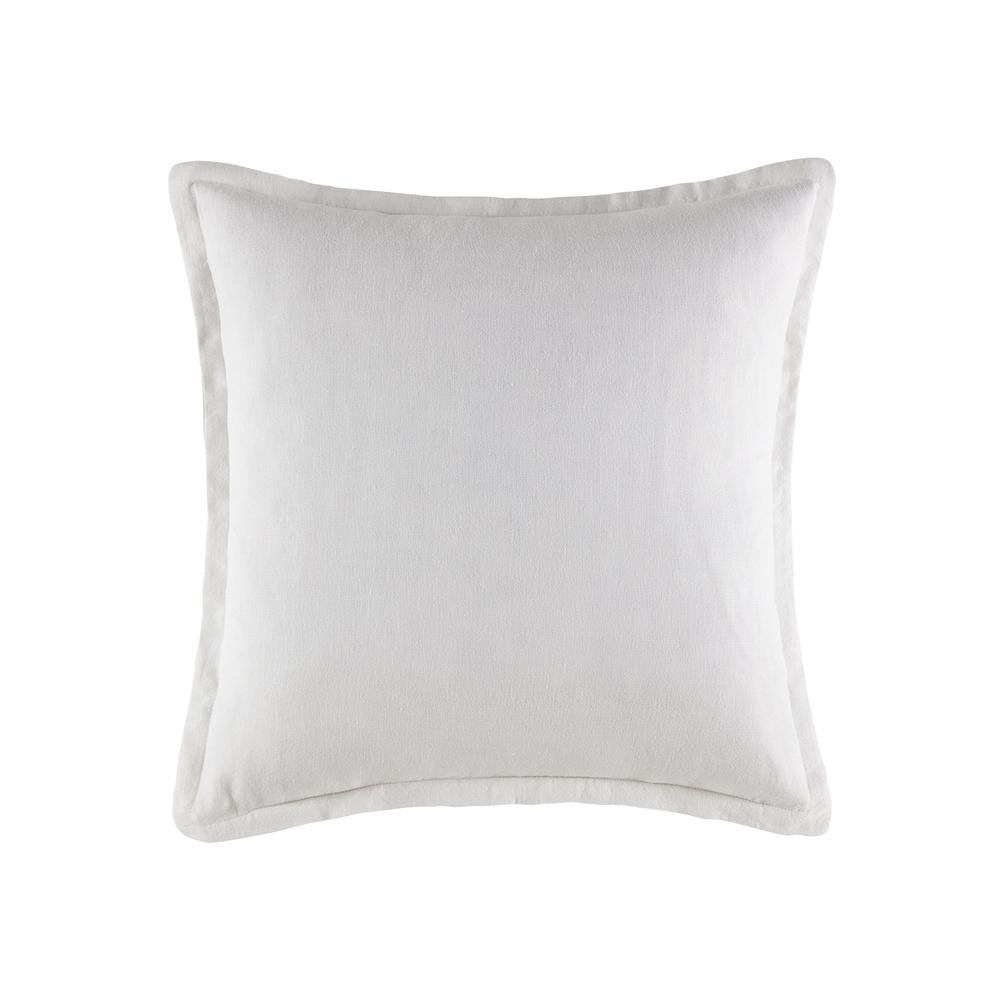 KAS linen square cushion in white
