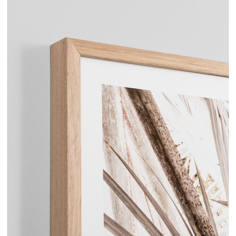 Natural palm landscape framed art