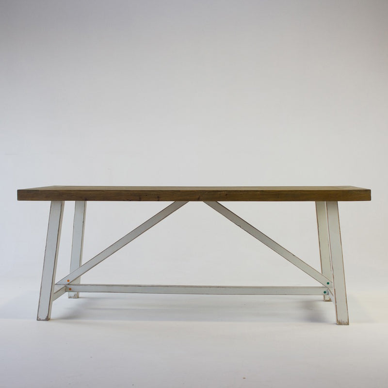 Beach dining table with white base 2.5m