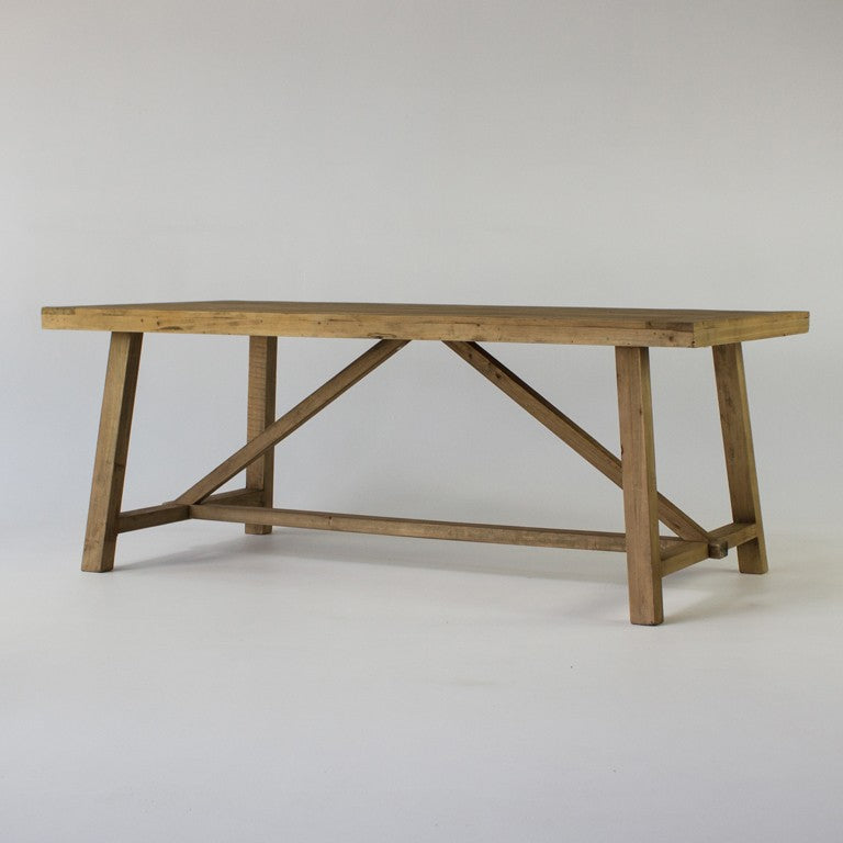 Beach dining table in natural 2.5m