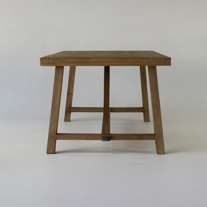 Beach dining table in natural 2m