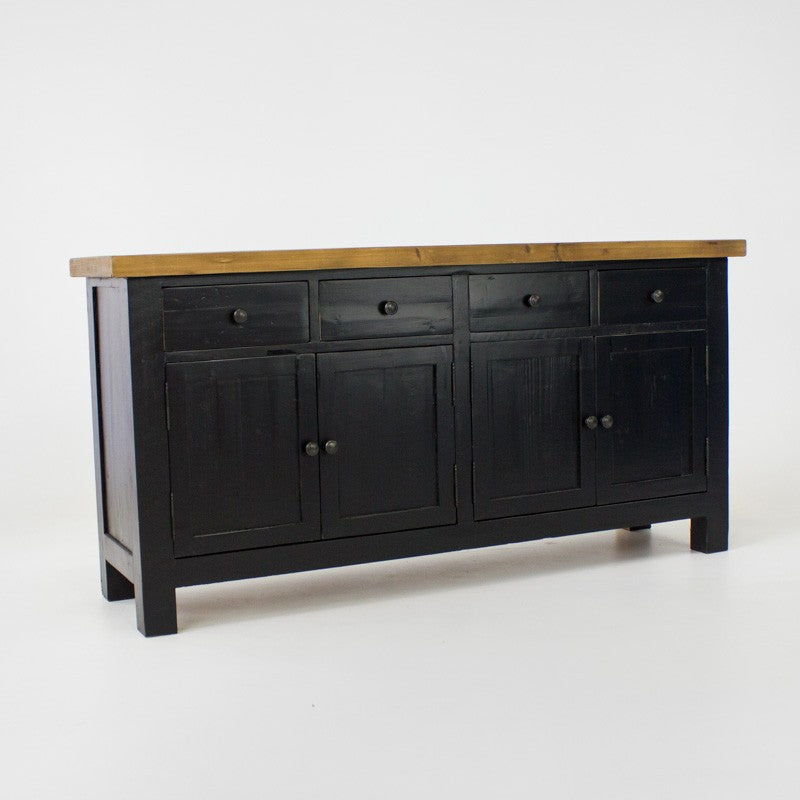 Beach buffet with 4 doors and 4 drawers in black