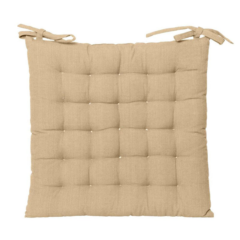Outdoor solid chair pad in taupe