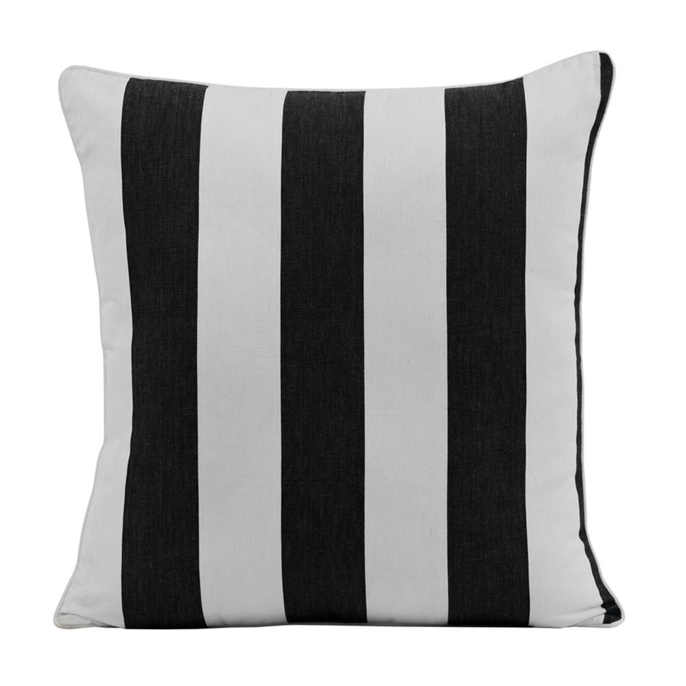 Outdoor stripe cushion in black