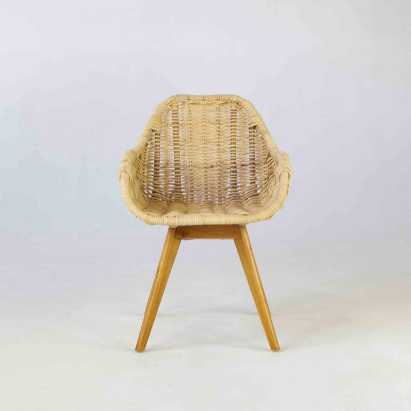 Seville dining chair in blonde cane