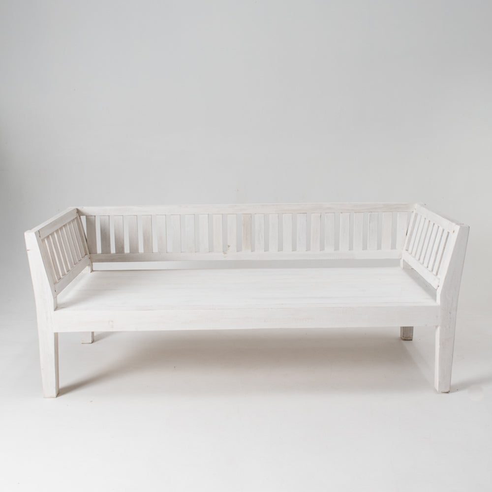 Slat daybed with mattress & 4x 60cm Eclectic Style Cushions