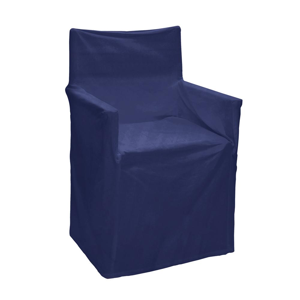 Solid director chair cover in blue