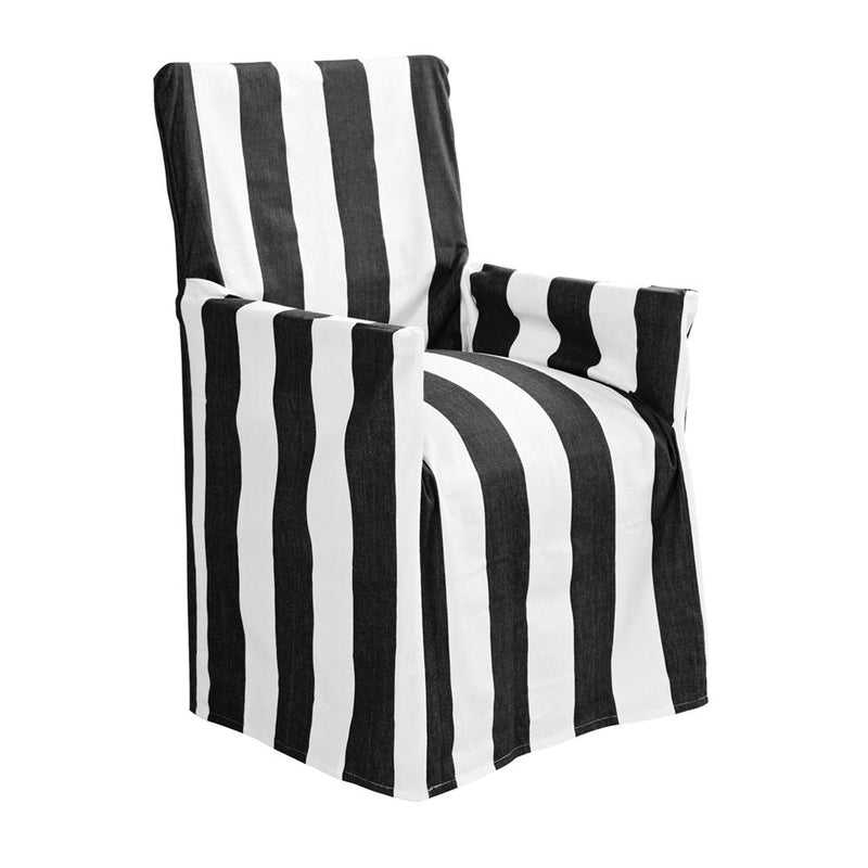 Stripe director chair cover in black