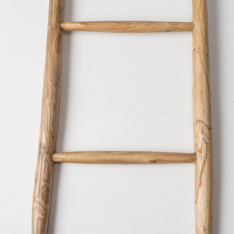 Primitive decorative ladder in natural