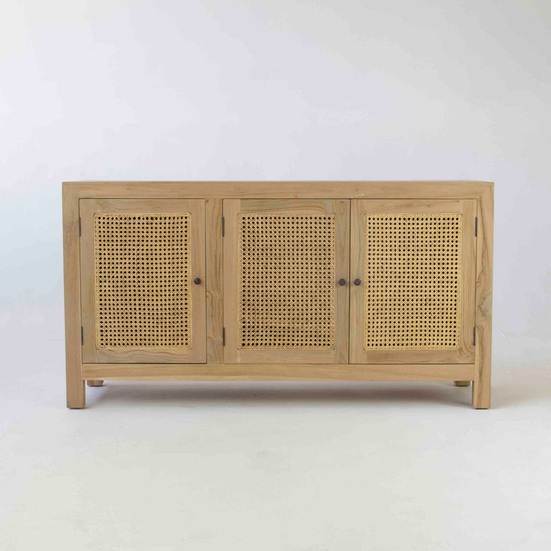 Tropic 3 door buffet with rattan door