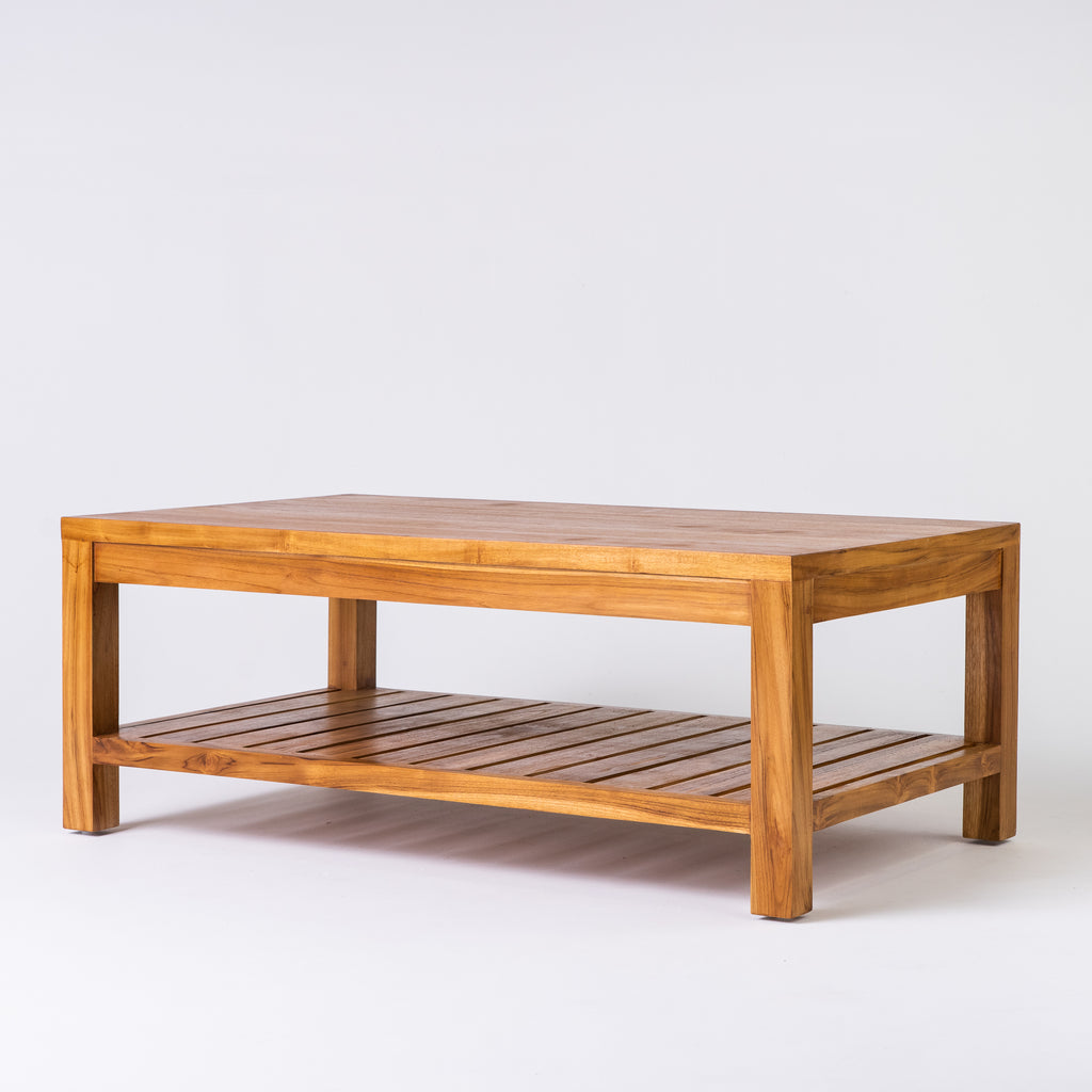 Tropic coffee table with slats in Teak