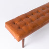 Leather bench in tan