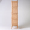 Rattan bookcase with webbing 175cm