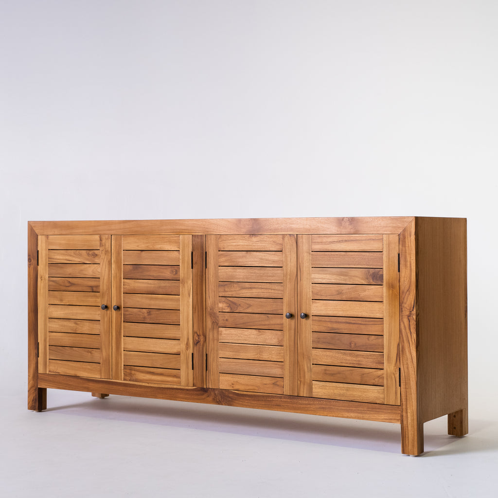 Tropic 4 door buffet with slat door in Teak