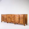 Tropic 6 door  buffet with slat door in Teak