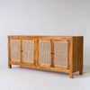 Tropic 4 door  buffet with rattan door in Teak