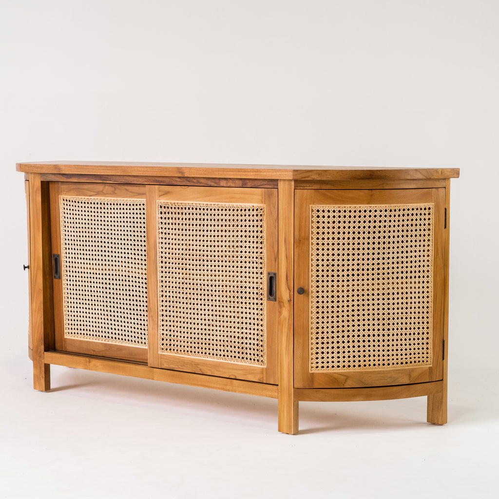 Tropic rattan oval buffet in Teak