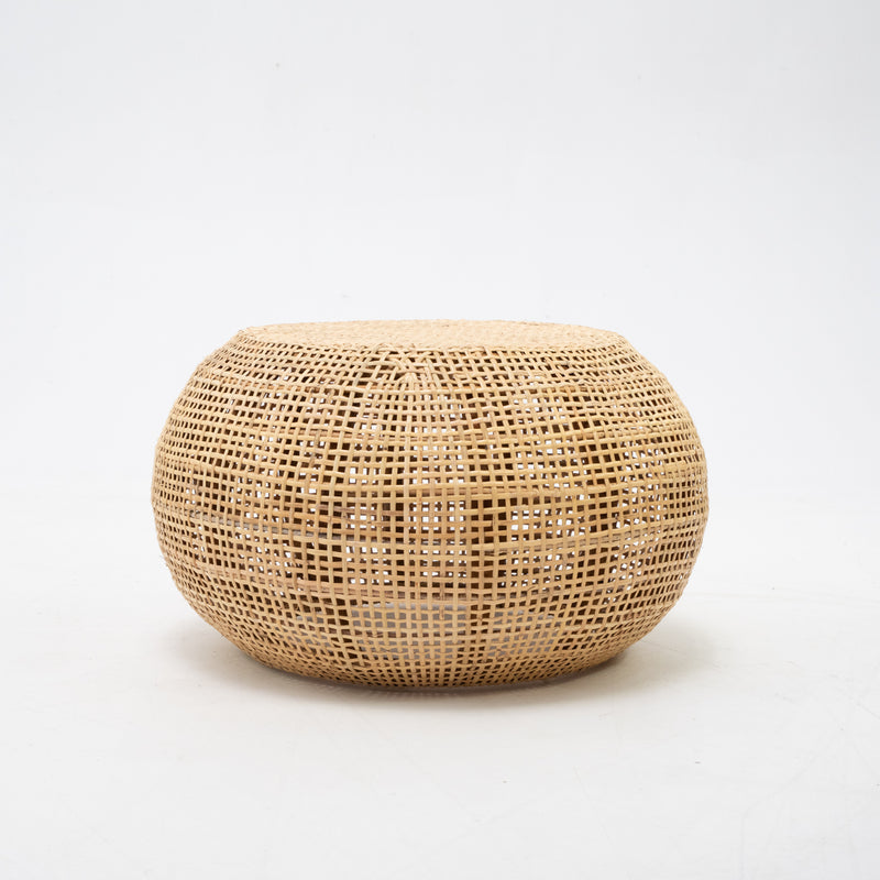 Woven rattan side table
