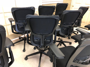 Pre-Owned HAWORTH ZODY task office chair Fully loaded & Adjustable Arms (4D)-Black Frame