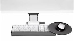 "Pre-Owned Humanscale 6G Series 900 Keyboard Tray w/ 8.5"" Mouse Platform & 7"" Adj. Arm"