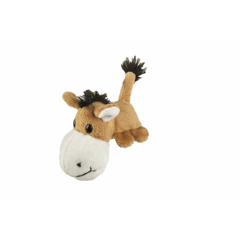 HKM Brown Plush Horse Key Ring