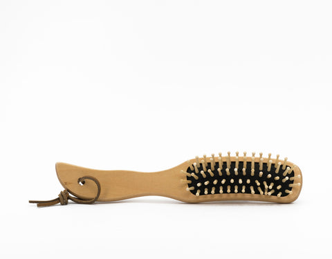 Borstiq Ergo Hair/Massage Brush with Leather Strap