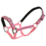 Polka Ponies Web Halter with Running Horses Trim