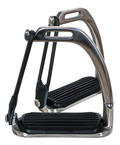 Blue Tag Stainless Steel Peacock Stirrup Irons with Treads