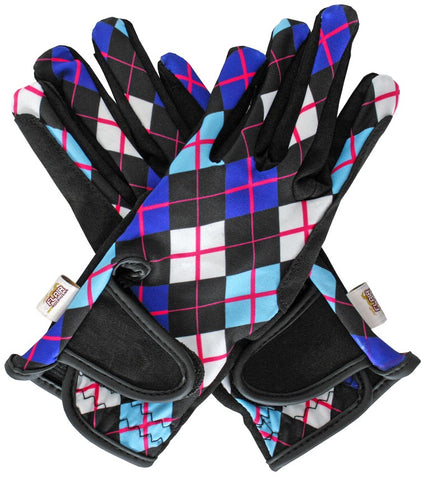 Flair Amara/Lycra Riding Gloves Patterned