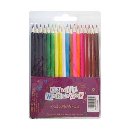Craft Workshop Coloured Pencils (18 pack)