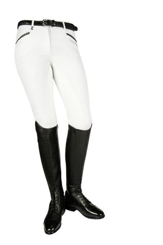 HKM Cavallino Marino Silver Stream Glitter Riding Breeches