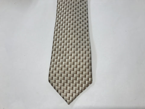 DM Brown Silk Tie