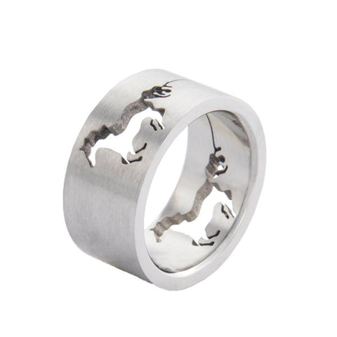 HKM Stainless Steel Horse Ring