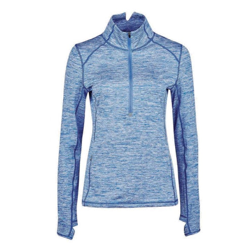 Dublin Violet Half Zip Long Sleeve Ladies Top