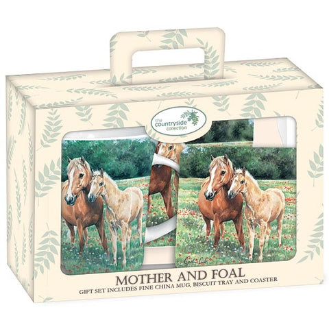 Mother & Foal Mug/Tray Set