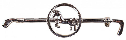 Hiro Circled Horse on Cane Stock Pin