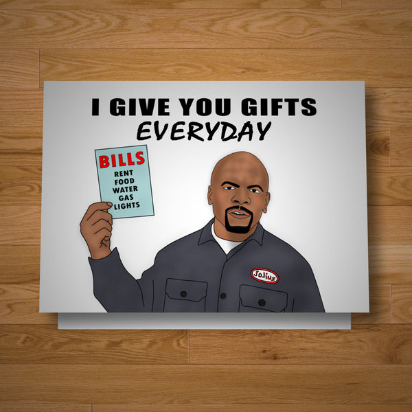 """Everything Is A Gift"" card"