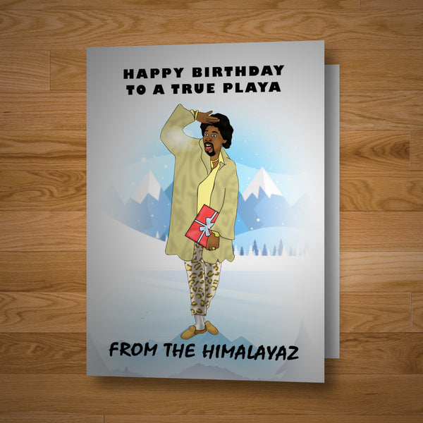 """Himalaya Playa"" Birthday Card"
