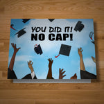 No Cap graduation card